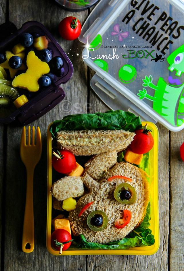 Chicken SaladSandwiches Lunch Box
