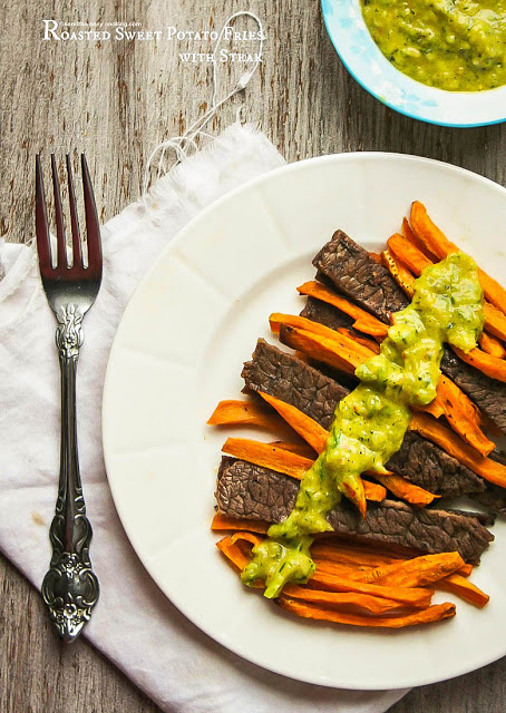 Roasted Sweet Potato Fries with Steak Recipe
