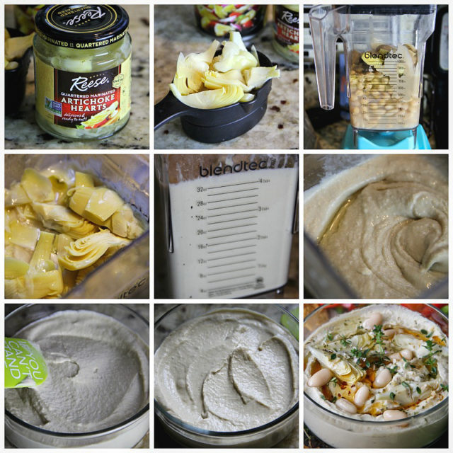 Easy Recipe for amazing and healthy Artichoke and Cannellini Beans Hummus
