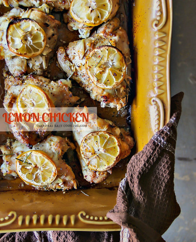Baked Lemon Chicken Thighs