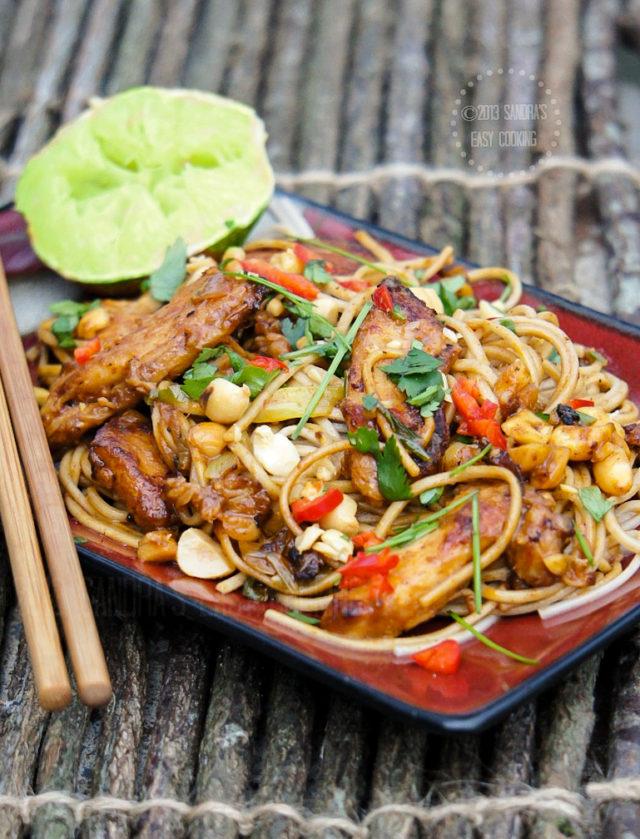 Thai Peanut Chicken Noodle Stir Fry Recipe
