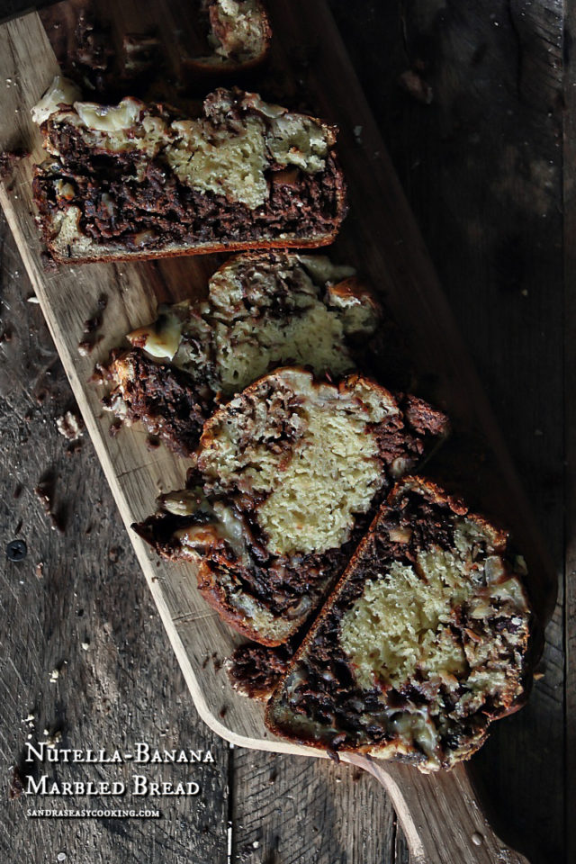 Nutella-Banana Marbled Bread