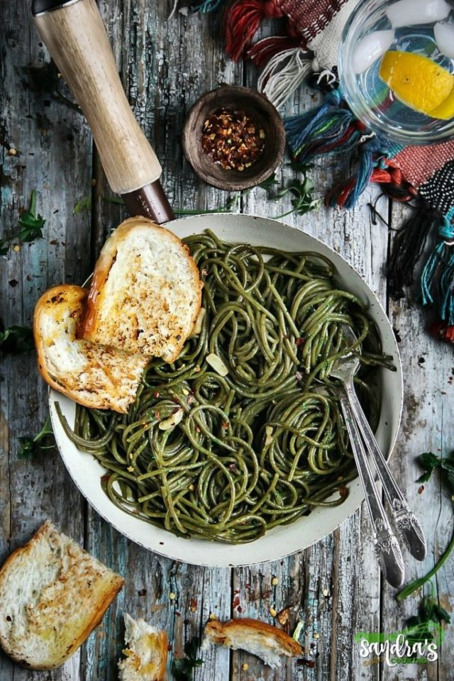 Olive Oil-Garlic SuperGreens Spaghetti Recipe