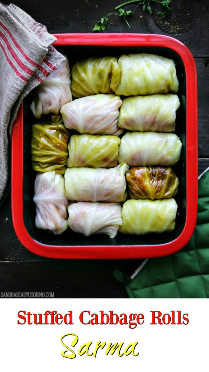 Traditionally made Cabbage Meat Rolls. These rolls are made with fermentedcabbage whichgives you more of a sour taste, but very delicious. Since we don't have fermented cabbage all the time, I made my own just by quick pickling cabbage.