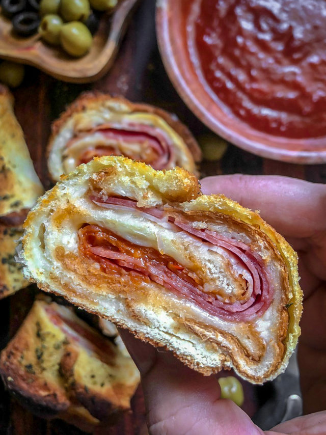 Pizza Rolls Recipe with Toast.