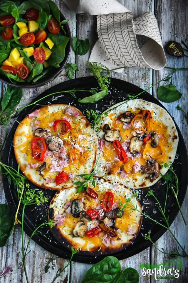 Tortilla Pizzas Recipe