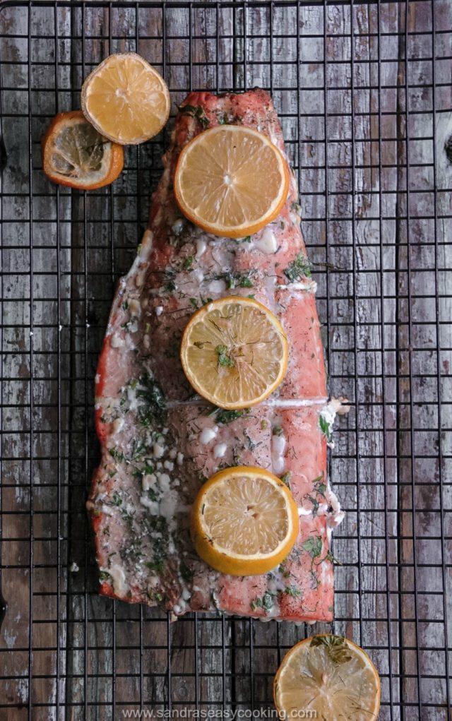 Lemon Herb Grilled Salmon - Sandra's Easy Cooking