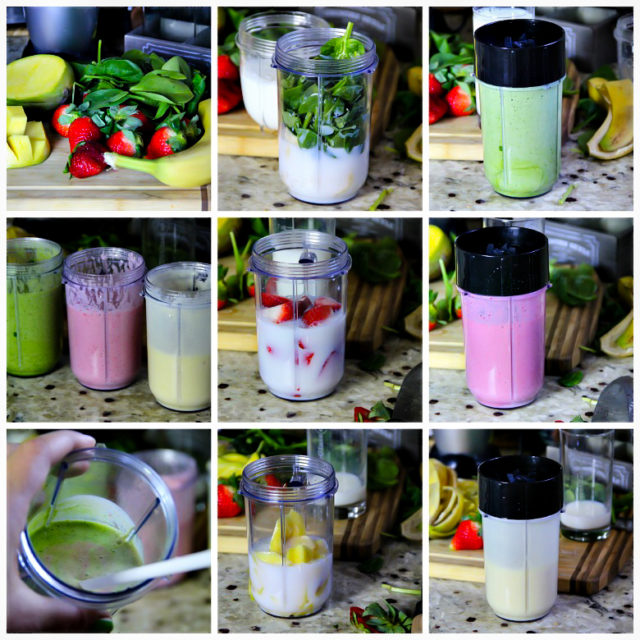 Spinach, Strawberry, Mango and Banana Smoothie