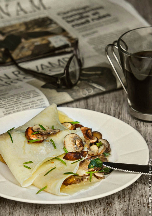 Savory Breakfast Crepes with Mushrooms