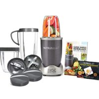 NutriBullet NBR-1201 12-Piece High-Speed Blender/Mixer System, Gray (600 Watts)
