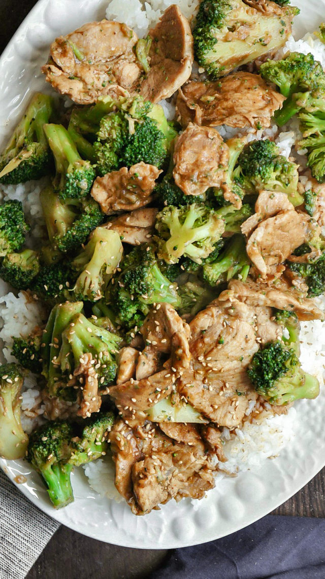 Broccoli and Pork Tenderloin Stir Fry