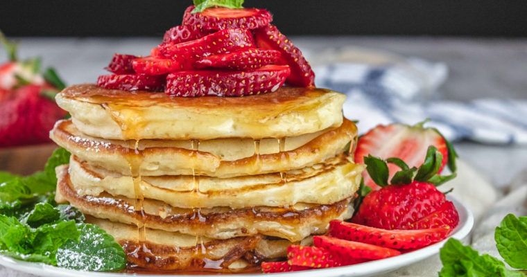 Fluffy Cream Cheese Pancakes