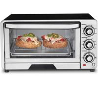Cuisinart TOB-40FR Custom Classic Toaster Oven Broiler, Silver (Renewed)
