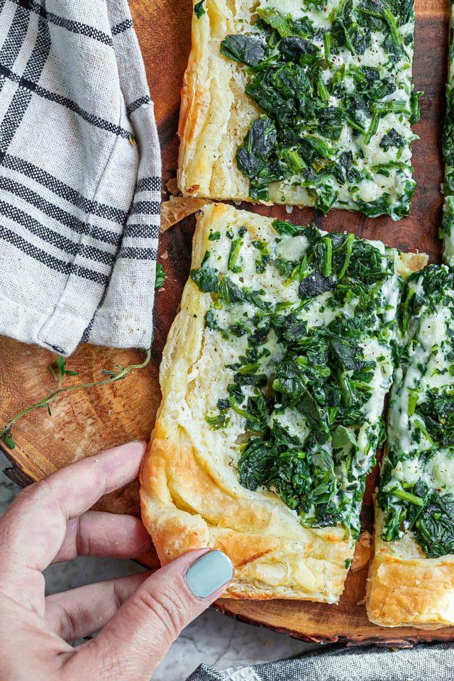 Creamy Spinach Puff Pastry Recipe