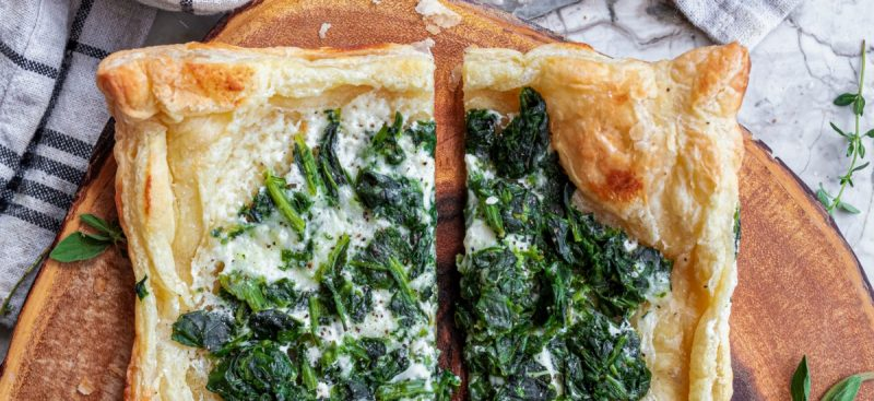 Creamy Spinach Puff Pastry
