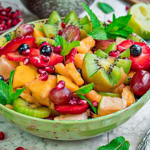 Fruit Salad with Citrus-Maple Dressing