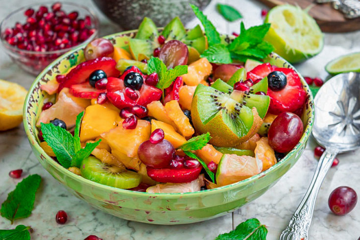 Fruit Salad with Citrus-Maple Dressing