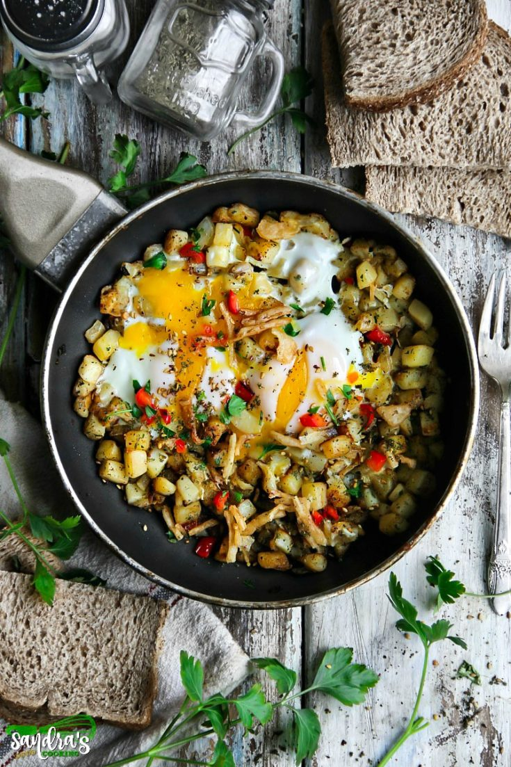 Potatoes and Eggs Skillet