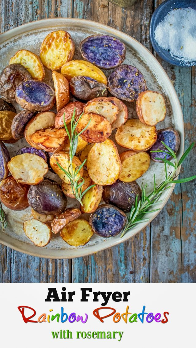 Air Fryer Rainbow Potatoes Recipe