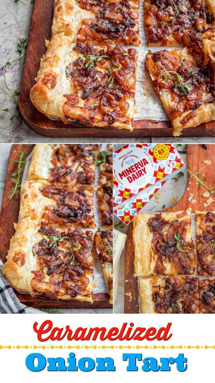 If you want to churn your recipe up to the next level, I encourage you to use Minerva tasty butter to make my Caramelized Onion Tart recipe. It's easy, tasty and a perfect appetizer for entertaining.