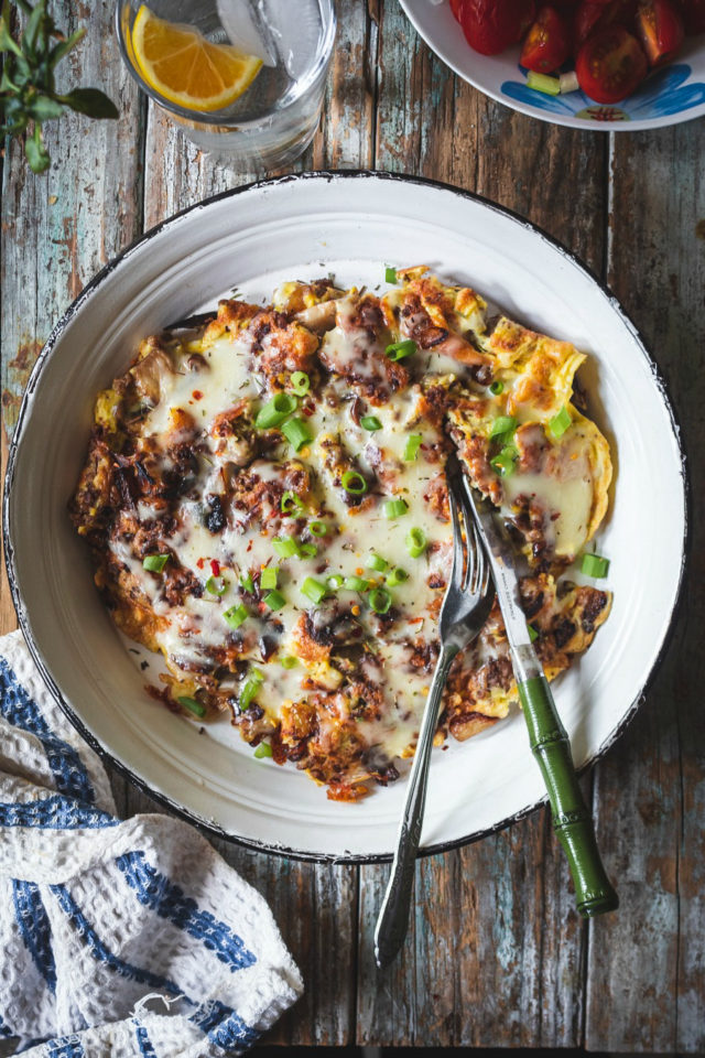 Simple Sausage and Vegetable Frittata