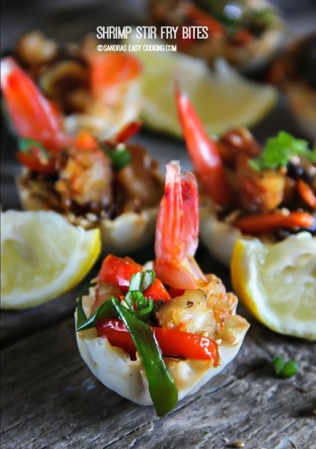 Shrimp Stir Fry Bites Recipe