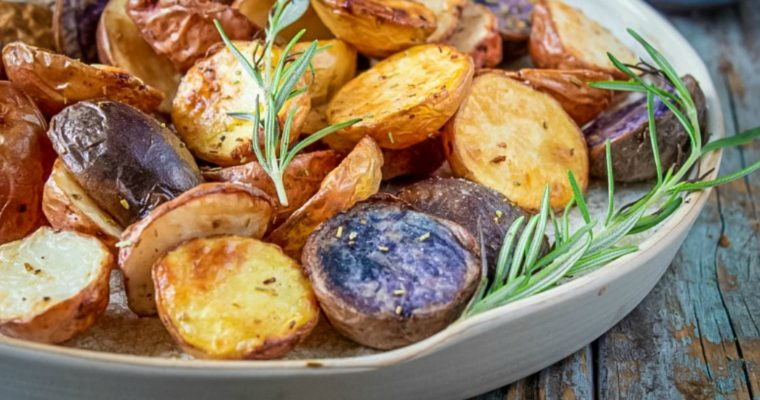 Air Fryer Rainbow Potatoes with Rosemary