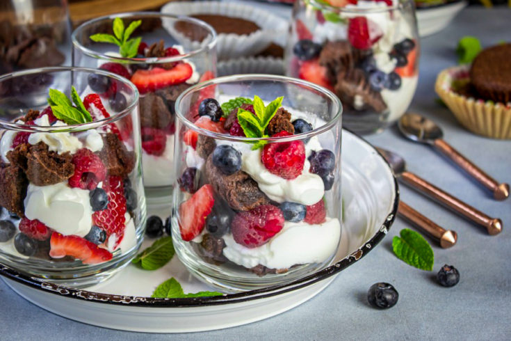 Brownies and Yogurt Summer Parfait