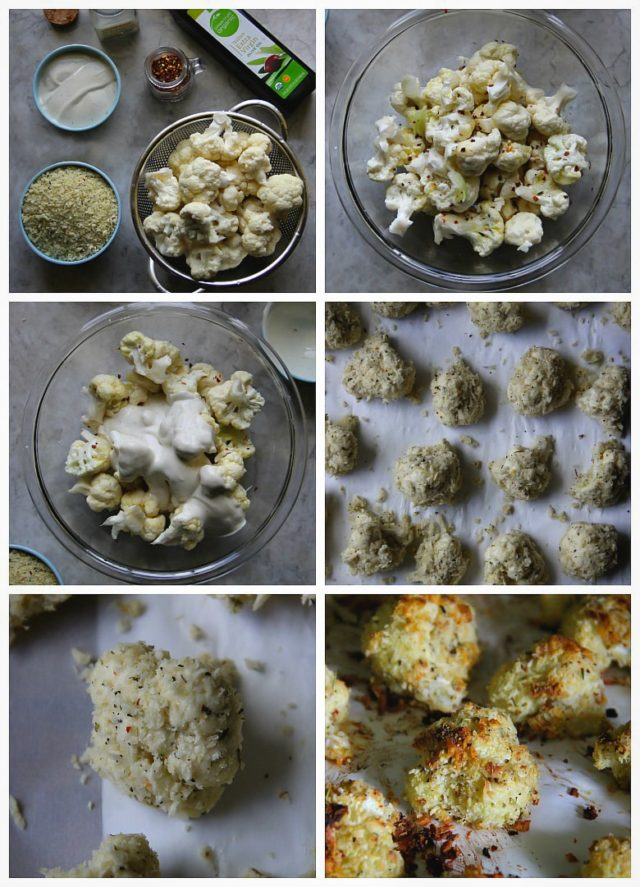 Cauliflower Ranch Parmesan Baked Bites Step by step