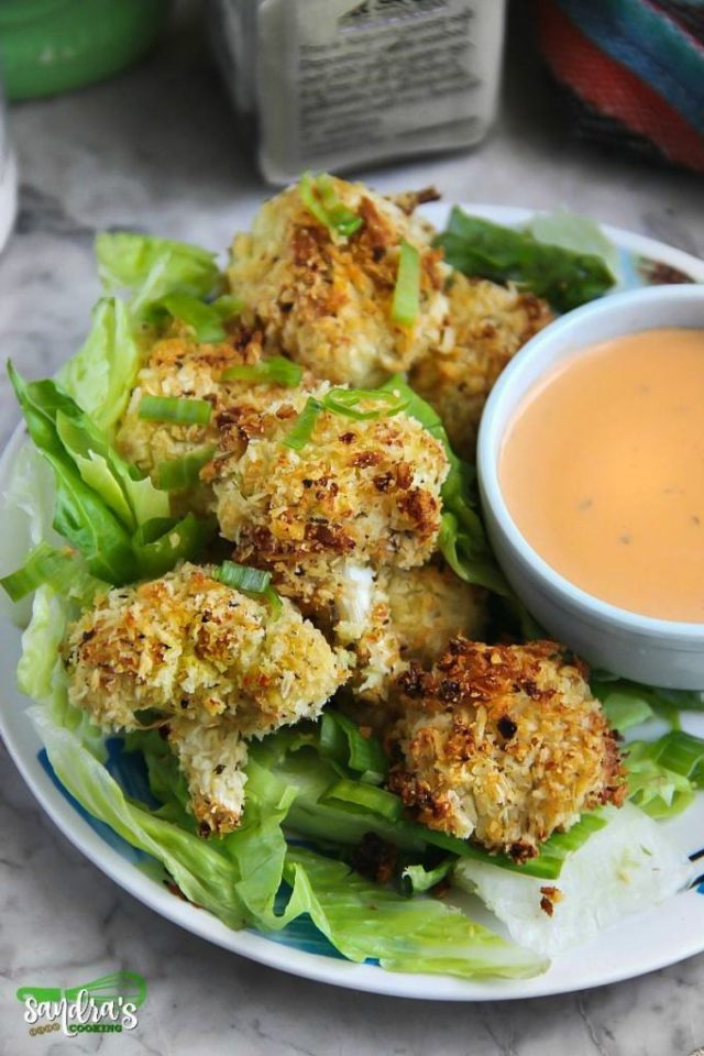 Recipe for Cauliflower Ranch Parmesan Baked Bites