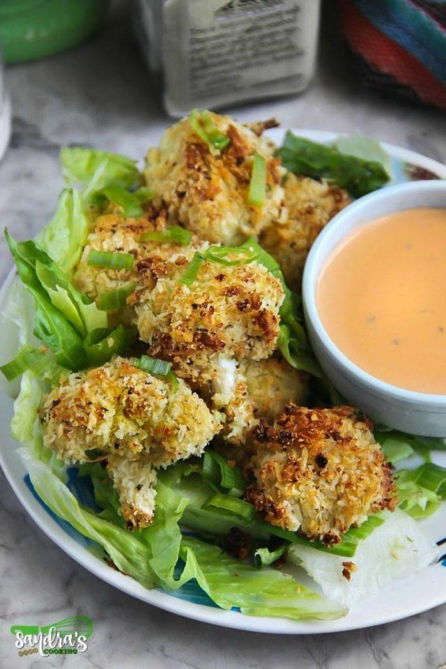 Recipe for Cauliflower Ranch Parmesan Baked Bites