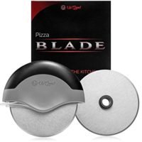 Pizza Cutter | Premium Edition Slicer | 2 Sharp Blades | Round Soft Grip, Safety Cover & Stainless Steel Wheel | Cut, Slice and Clean with Ease (UpGood Kitchen Gadgets, Pitch Black)