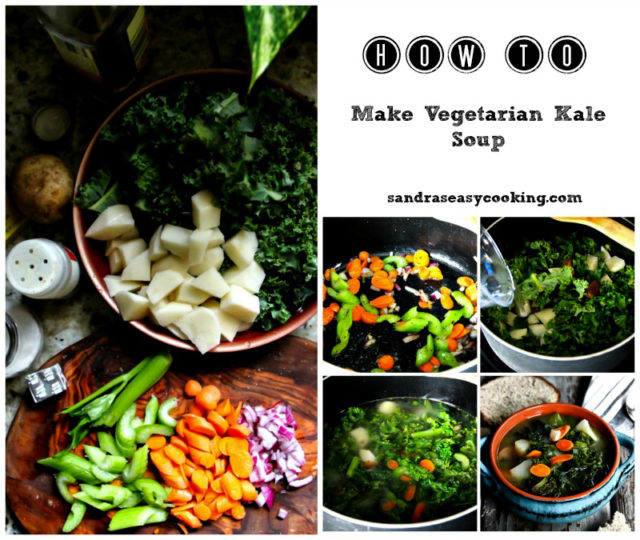 Vegetarian Kale Soup Step by step