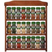 Organic Spice Rack by McCormick, 24 Herbs & Spices Included (Wood Spice Set for Wall or Countertop)