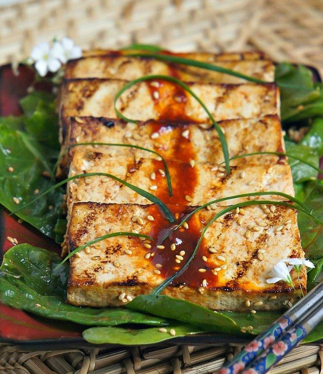 Grilled tofu recipe with marinade
