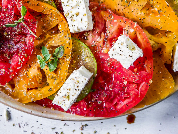 Heirloom Tomato Feta Salad