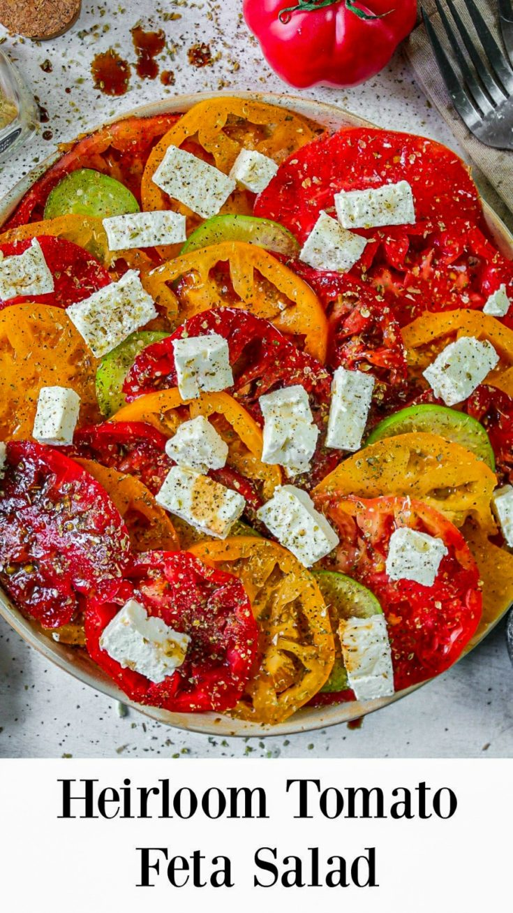 Heirloom Tomato Feta Salad Recipe