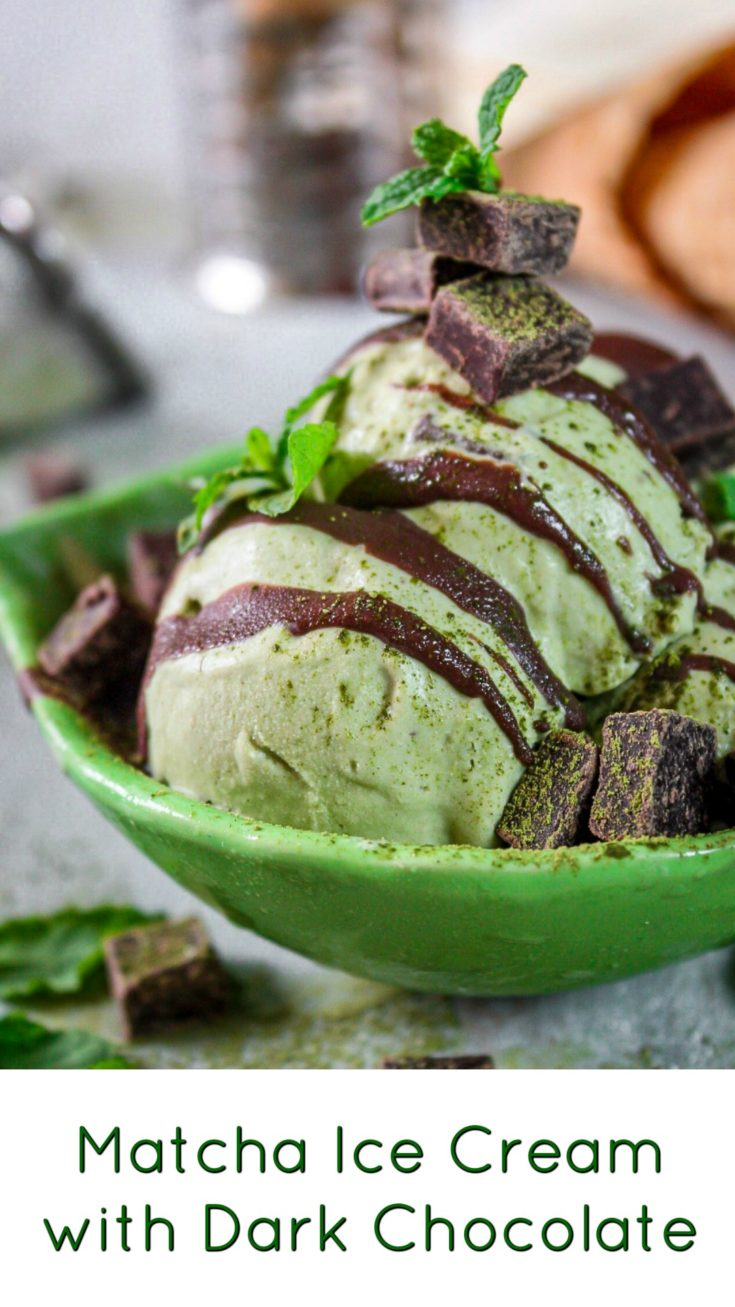 Matcha Ice Cream with Dark Chocolate Recipe