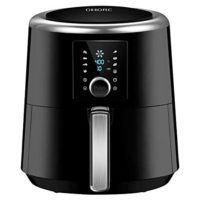 OMORC 6 quart Air Fryer, Air Fryers, 1800W Fast Large Hot Air Fryers & Oilless Cooker w/Presets, LED Touchscreen(for Wet Finger)/Roast/Bake/Keep Warm, Dishwasher Safe, Nonstick,2-Year Warranty(ME122)