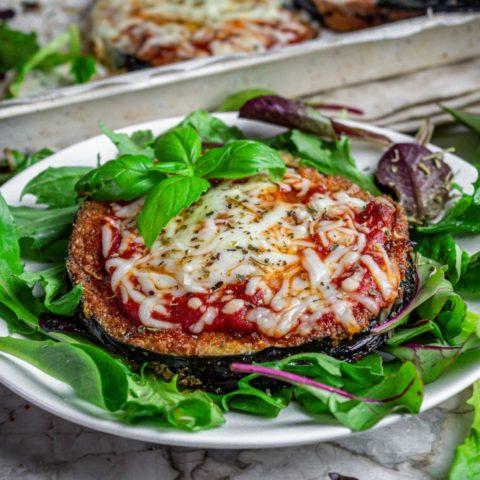 Pan-Fried Eggplant with Mozzarella and Marinara