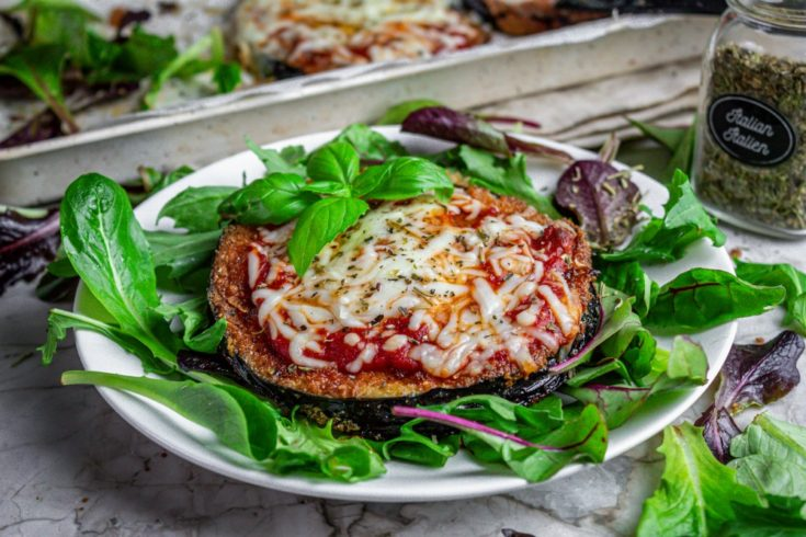 Pan-Fried Eggplant with Mozzarella and Marinara