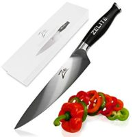 Zelite Infinity Chef Knife 8 Inch - Comfort-Pro Series - German High Carbon Stainless Steel - Razor Sharp, Super Comfortable