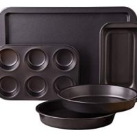 Sunbeam Kitchen Bake 5-Piece Bakeware Set, Carbon Steel