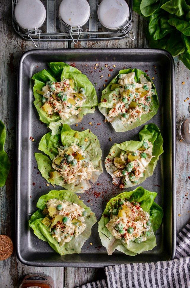 Chicken and Egg Salad Lettuce Wraps