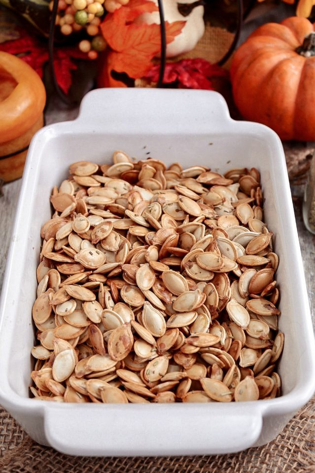 Oven Roasted Pumpkin Seeds