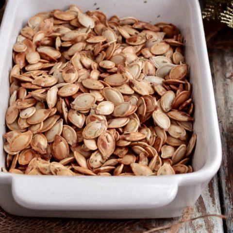 Oven Roasted Pumpkin Seeds