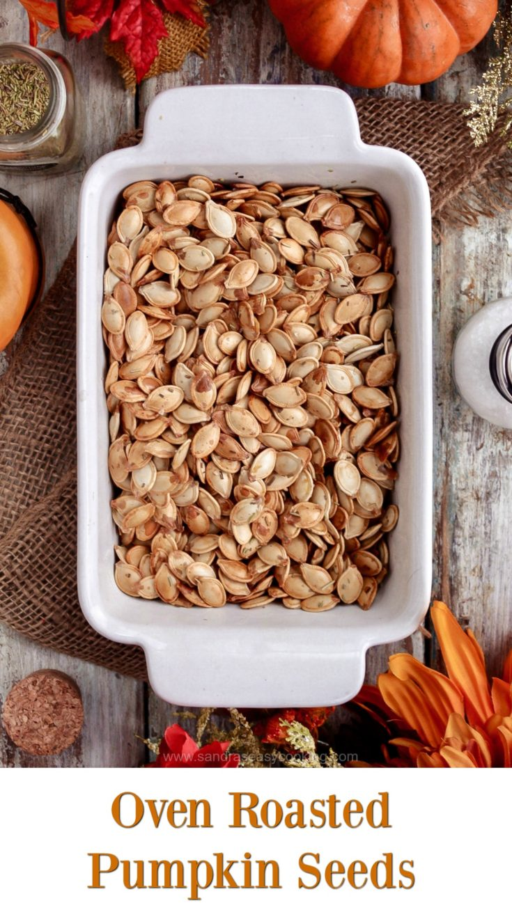 Easy and tasty snack; Oven Roasted Pumpkin Seeds