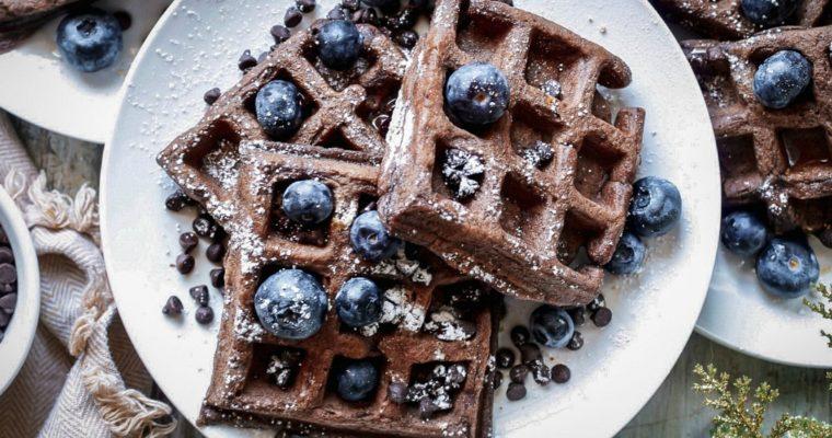 PB2 Gluten-Free Chocolate Waffles
