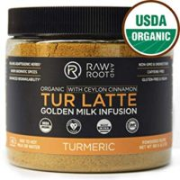 TUR LATTE - USDA ORGANIC CERTIFIED GOLDEN MILK POWDER WITH CEYLON CINNAMON - Turmeric Latte Mix - Golden Milk Tea - Anti-Inflammatory, Non-GMO, Vegan, Gluten-free, Unsweetened (45 servings)