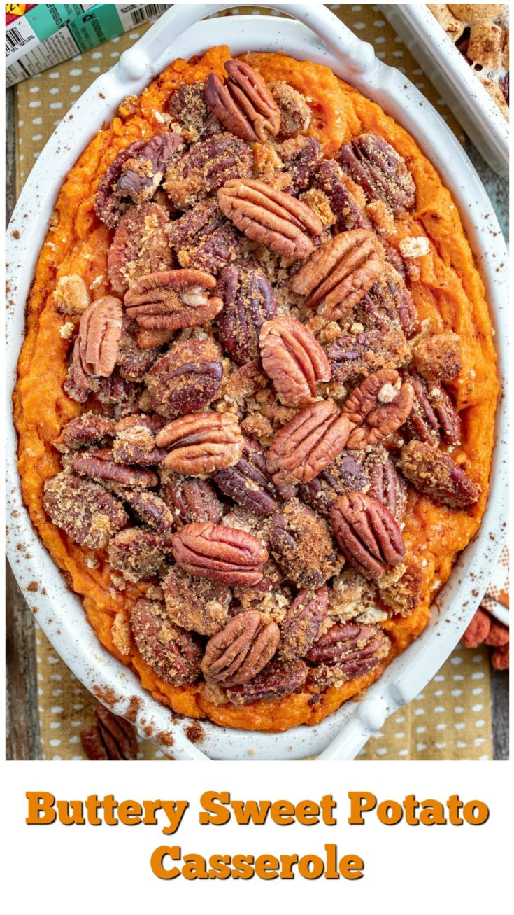 Buttery Sweet Potato Casserole is an appetizing and amazing side dish or dessert that will make any holiday dinner that much more special. Minerva Dairy Amish Butter undoubtedly makes this magnificent treat possible.